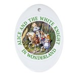 Alice and the White Knight Ornament (Oval)