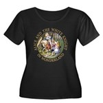 Alice and the White Knight Women's Plus Size Scoop