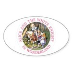 Alice and the White Knight Sticker (Oval 10 pk)