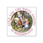 Alice and the White Knight Square Sticker 3