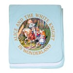 Alice and the White Knight baby blanket