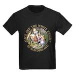 Alice and the White Knight Kids Dark T-Shirt