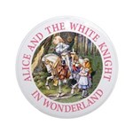 Alice and the White Knight Ornament (Round)