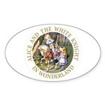 Alice and the White Knight Sticker (Oval 50 pk)