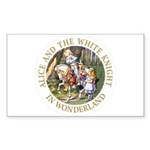 Alice and the White Knight Sticker (Rectangle 10 p