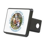 Alice and the White Knight Rectangular Hitch Cover