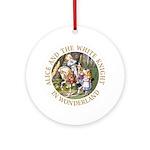 Alice and the White Knight Ornament (Round)