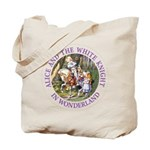 Alice and the White Knight Tote Bag