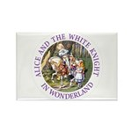 Alice and the White Knight Rectangle Magnet (100 p