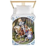 Alice and the White Knight Twin Duvet