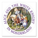 Alice and the White Knight Square Car Magnet 3