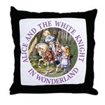 Alice and the White Knight Throw Pillow