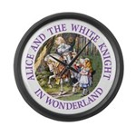 Alice and the White Knight Large Wall Clock