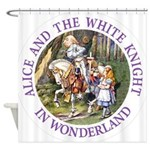 Alice and the White Knight Shower Curtain