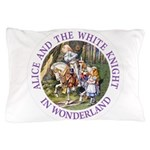 Alice and the White Knight Pillow Case