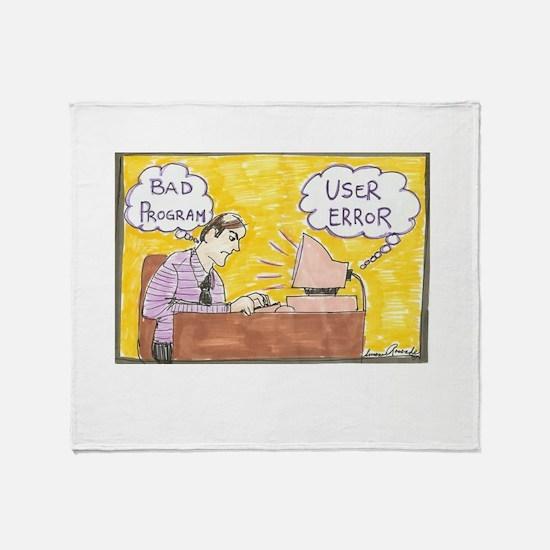 Cute Comic strip Throw Blanket