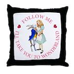 Follow Me - I'll Take You to Wonderland Throw Pill