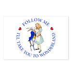 Follow Me - I'll Take You to Wonderland Postcards