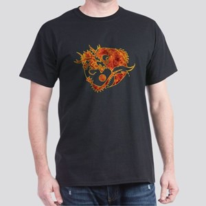 Yin Yang Dragon Fire Dark T-Shirt
