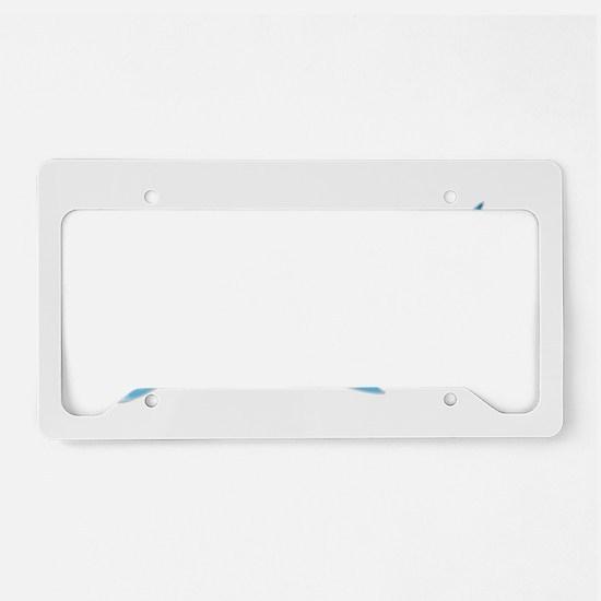 Great White Shark Grey License Plate Holder