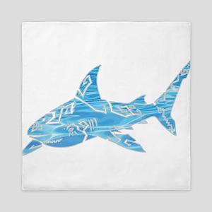 Great White Shark Grey Queen Duvet