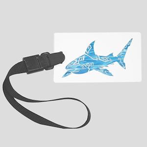 Great White Shark Grey Large Luggage Tag