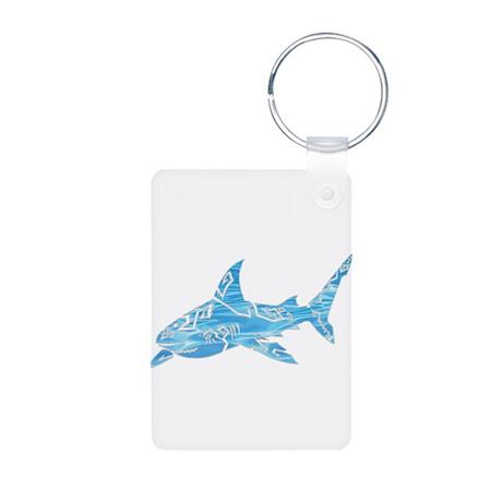 Great White Shark Grey Aluminum Photo Keychain