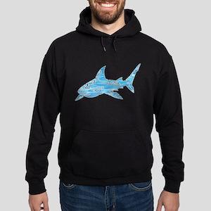 Great White Shark Grey Hoodie (dark)
