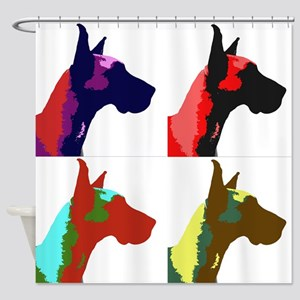 Great Dane Pop Art Shower Curtain