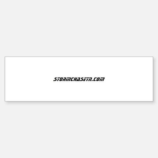 StormChaseTN.com Logo (black on white) Bumper Bumper Sticker