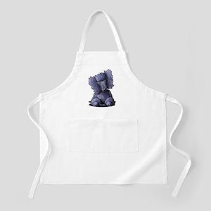 Blue Poodle Apron