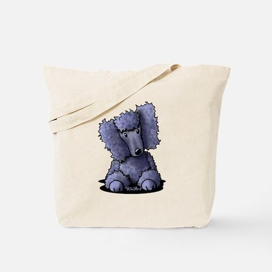 Blue Poodle Tote Bag