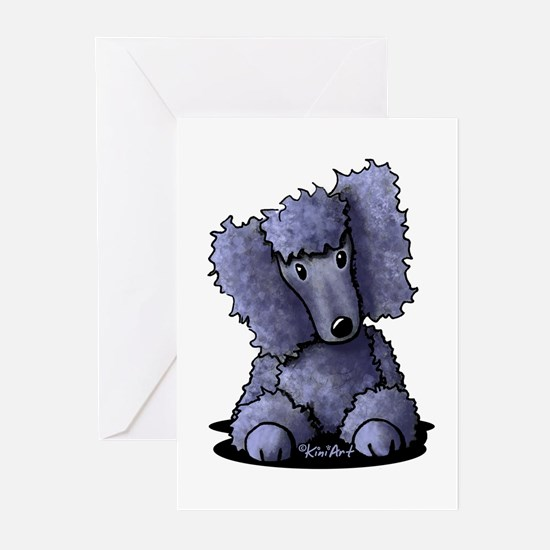 Blue Poodle Greeting Cards (Pk of 20)