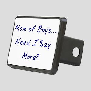 Mom of Boys Rectangular Hitch Cover