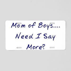 Mom of Boys Aluminum License Plate