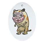 Grandma cat Ornament (Oval)