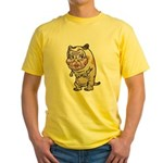 Grandma cat Yellow T-Shirt