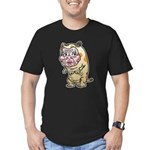 Grandma cat Men's Fitted T-Shirt (dark)