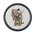 Grandma cat Large Wall Clock