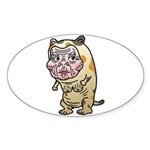 Grandma cat Sticker (Oval 10 pk)