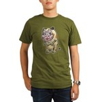 Grandma cat Organic Men's T-Shirt (dark)
