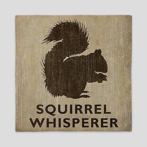Vintage Squirrel Whisperer Queen Duvet