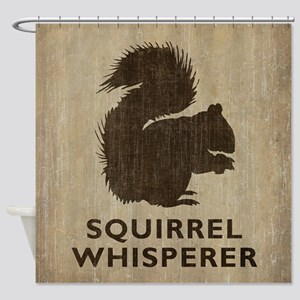 Vintage Squirrel Whisperer Shower Curtain