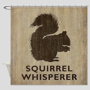 Vintage Squirrel Whisperer Shower Curtain