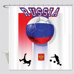 Russian Football Shower Curtain