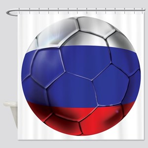 Russian Soccer Ball Shower Curtain