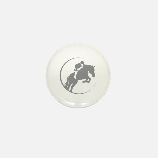 Horse Jumping Mini Button