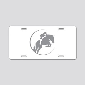 Horse Jumping Aluminum License Plate