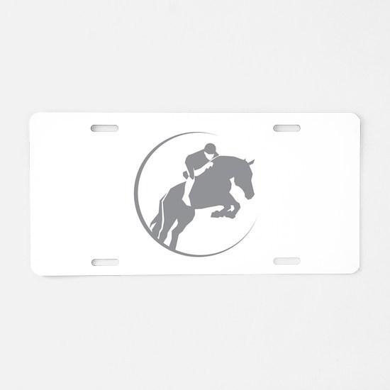 Horse Jumping Aluminum License Plate