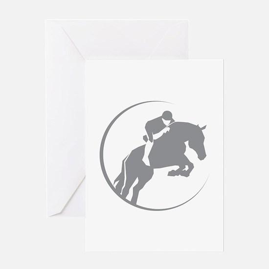 Horse Jumping Greeting Card